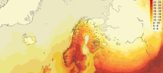 Meteorologene venter nye heterekorder: - Absolutt ikke noe vi ser hvert år