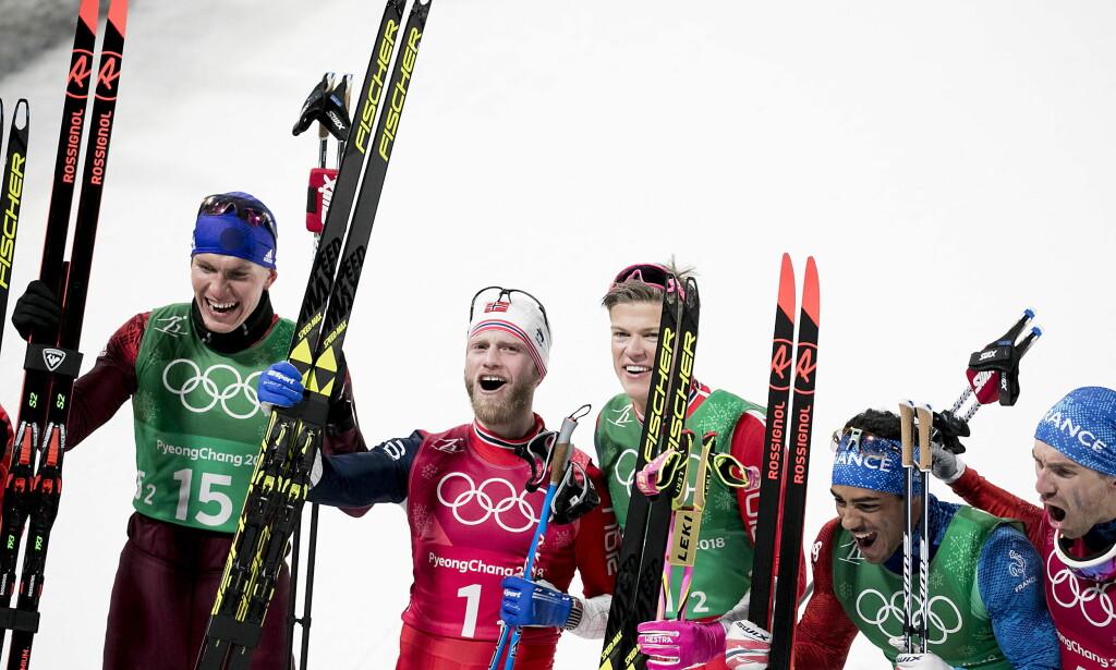 ANKERHELT: Johannes Høsflot Klæbo avgjorde OL-stafetten i Pyeongchang i vinter. Foto: Bjørn Langsem / Dagbladet
