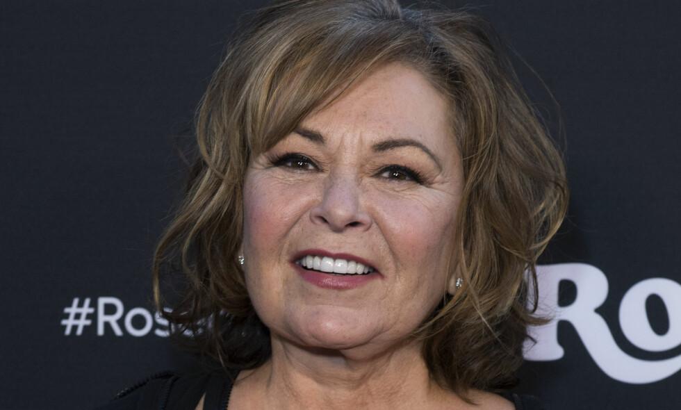 MISTET JOBBEN: Skuespiller og komiker Rseanne Barr (65) mistet jobben etter flere rasistiske uttalelser. Foto: NTB Scanpix