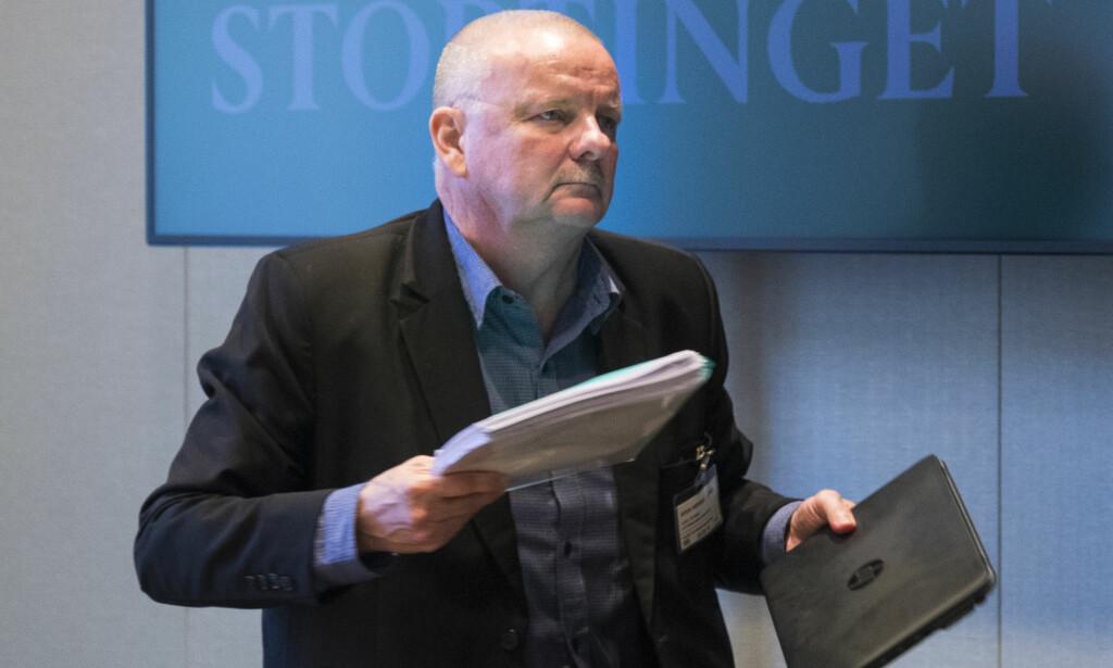 PÅ STORTINGET: Øyvind Juell fortalte Stortingets politikere at virksomhetsoverdragelse trolig ville vært i strid med loven. En ledende ekspert på feltet er uenig. Foto: Heiko Junge / NTB scanpix