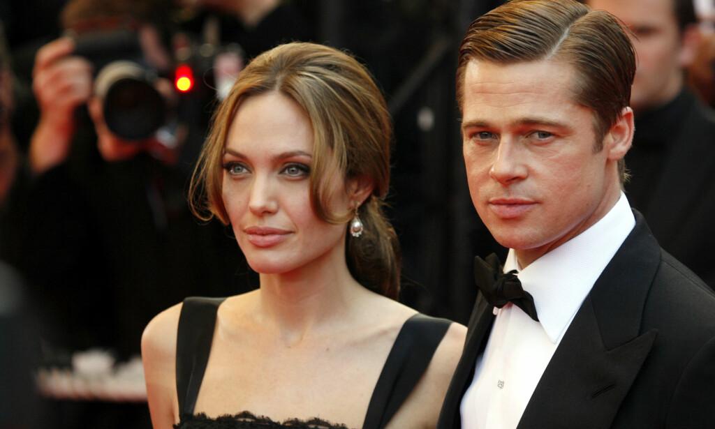 UENIGHETER: Skuespillerduoen Angelina Jolie og Brad Pitt har siden bruddet i 2016 forsøkt å løse detaljene rundt hvem som skal ha omsorgsretten for deres seks barn. Foto: NTB Scanpix