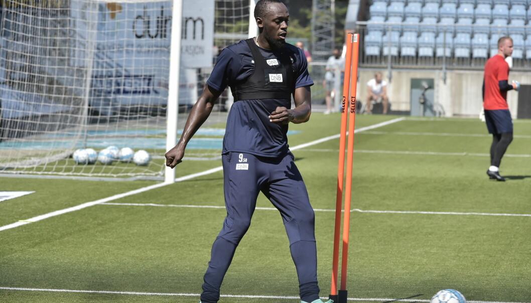 <strong>ØVER TIL VELDEDIGHETSKAMP:</strong> Usain Bolt. Foto: Hans Arne Vedlog/Dagbladet