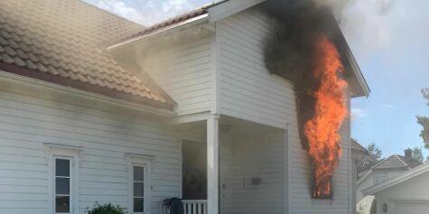 image: Elsykkelbatteri eksploderte og forårsaket husbrann