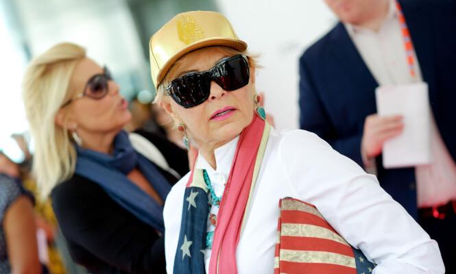 PRESIDENTKANDIDAT: I 2012 stilte Roseanne Barr som presidentkandidat. Foto: Splash News/ NTB Scanpix