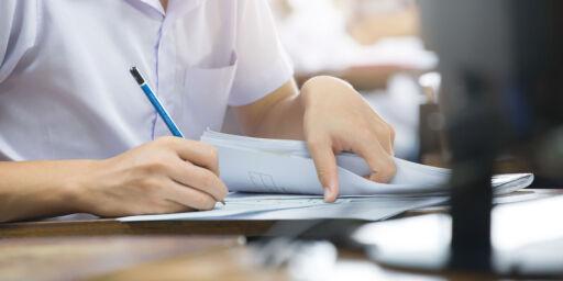 image: 46 eksamener er forsvunnet. Privatister kan få utsatt utdanningen et halvt år