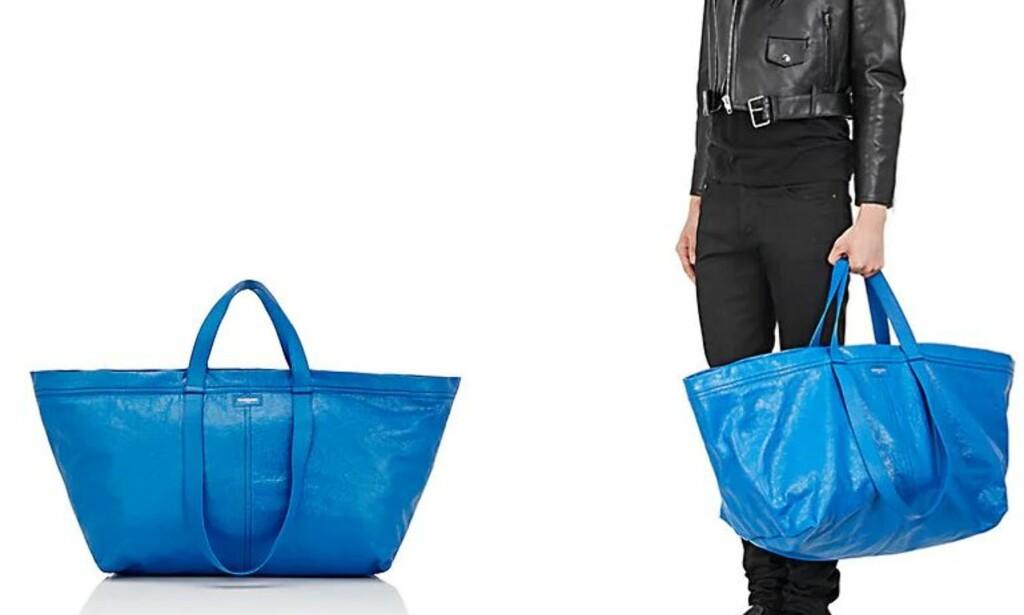 IKEA?: Denne vesken fikk mye oppmerksomhet i fjor. Ser du likheten med Ikea? Foto: Barneys New York.