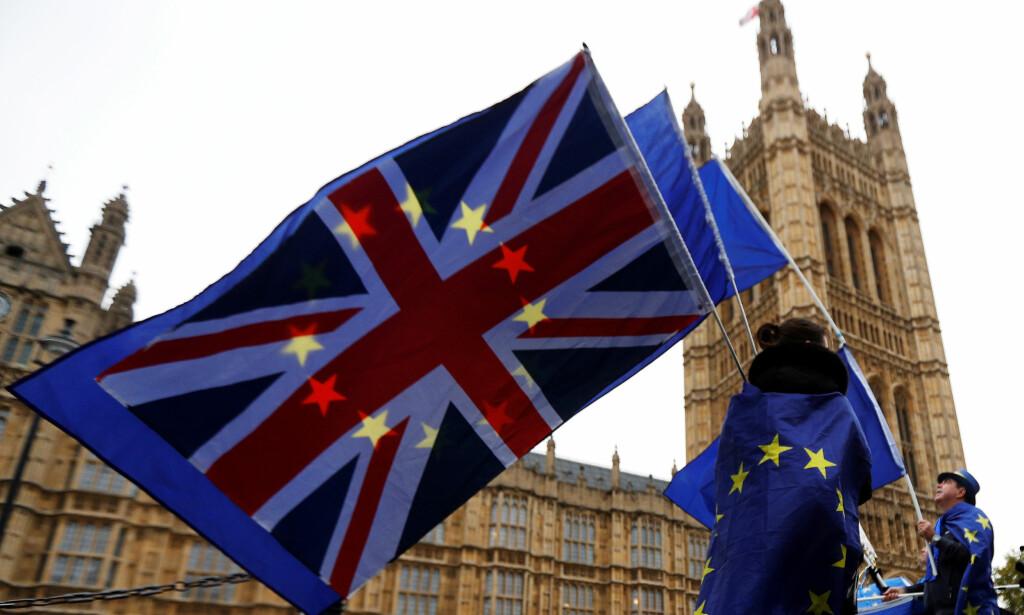 «ARMAGEDDON»: En rapport om Storbritannia etter en skilsmisse med EU uten en avtale, utarbeidet av brexit-departementet, inneholder et såkalt «dommedag»-scenario. Foto: Reuters / NTB Scanpix