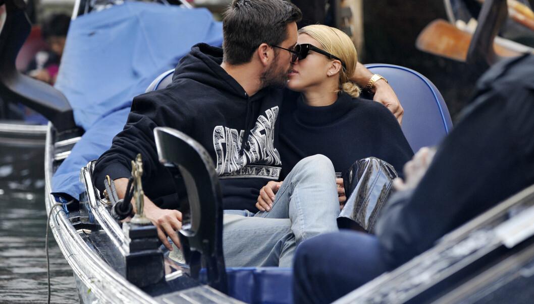 DEN GANG DA: Scott og Sofia har ikke vært redde for å vise sine varme følelser for hverandre. Foto: NTB scanpix