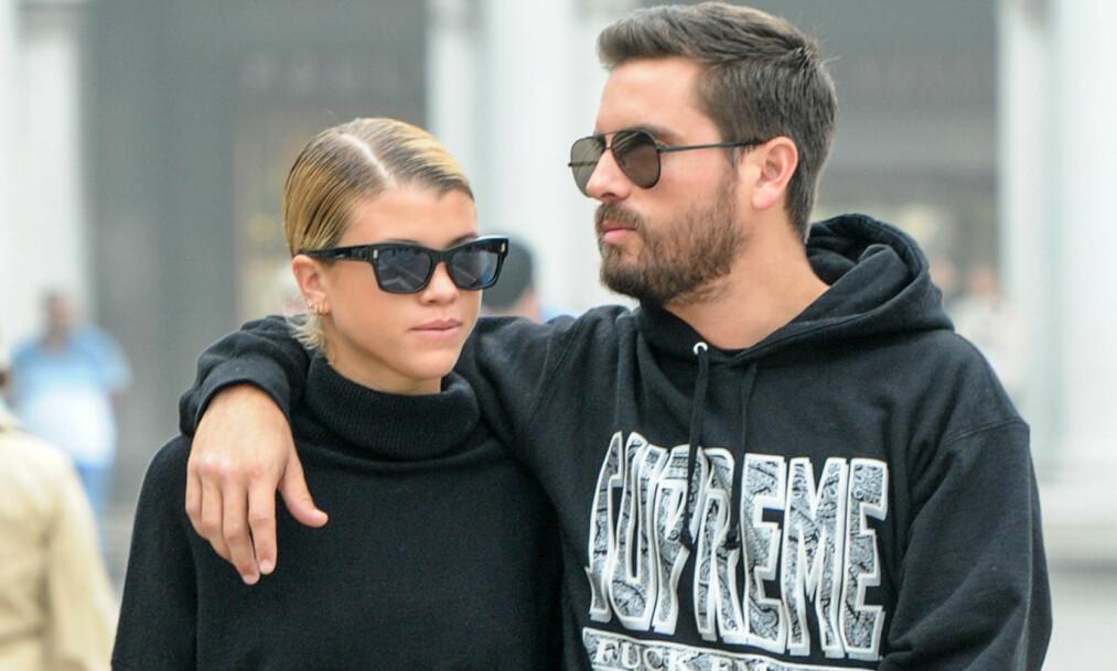 LYKKEN BRAST: Sofia Richie og Scott Disick har vært sammen i omtrent ett år. Nå er forholdet over, ifølge flere kilder. Foto: NTB scanpix