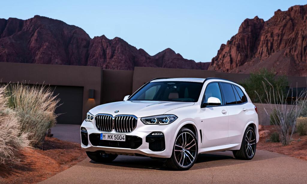 NY BMW X5: X5 går i mer pompøs retning, spesielt i fronten. Startpris for minste diesel er rett under millionen. Foto: BMW