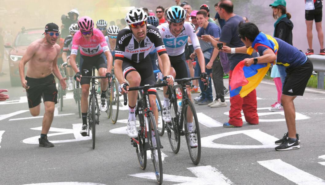 NY DUELL: Bare 46 sekunder skilte Chris Froome og Tom Dumoulin i årets Giro d'Italia. Nå venter en ny duell i Tour de France. FOTO: Tim de Waele/Getty Images