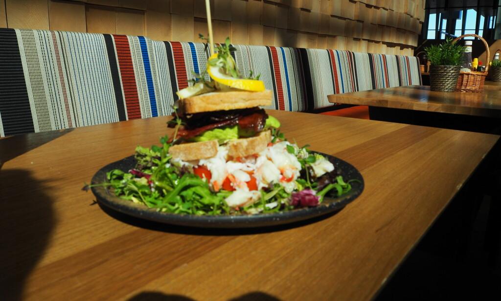 CLUB MED TVIST: Kongekrabbe club sandwich til 199 kroner.