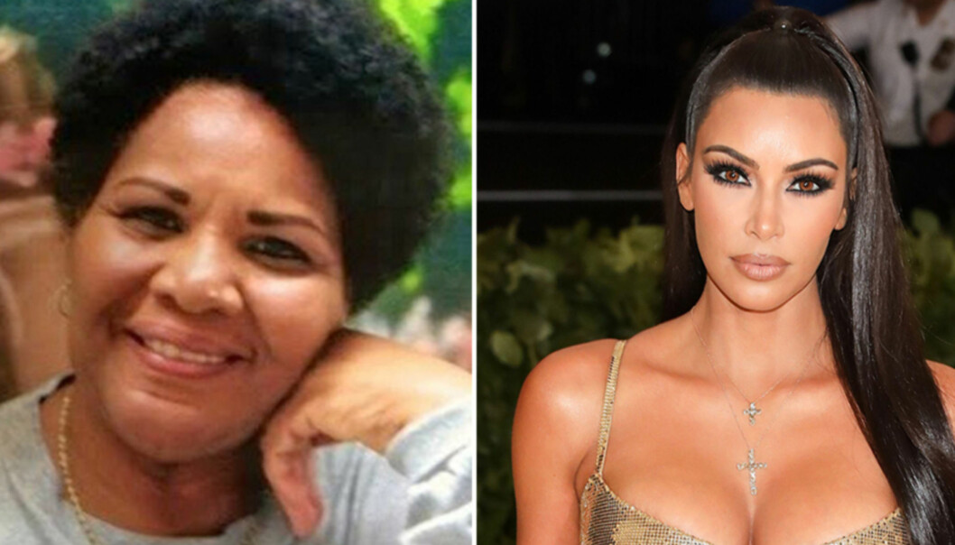 BENÅDET: Onsdag forrige uke møtte realitystjerna Kim Kardashian Donald Trump for å diskutere saken om narkotikadømte Alice Marie Johnson, som soner en fengselsstraff på livstid. Nå er hun blitt benådet. Foto: Change.org, NTB Scanpix