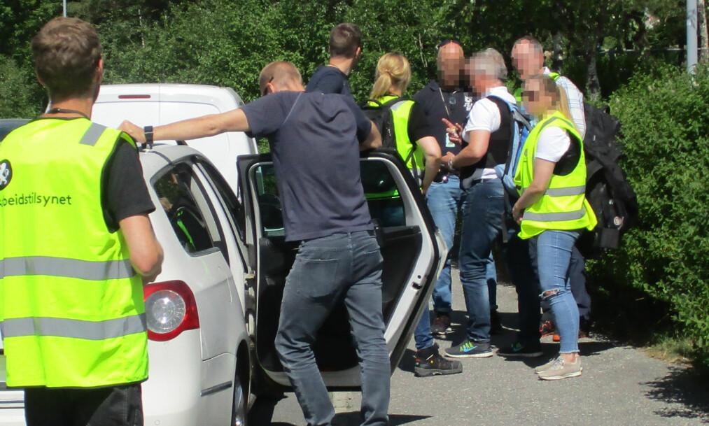 TATT: To briter ble tirsdag pågrepet i Bergen. Nok en gang er omreisende steinleggere på plass i Norge. Foto: A-krim