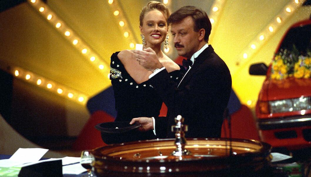<strong>CASINO:</strong> Birgitte Seyffarth og Hallvard Flatland ledet Casino sammen fra 1989 til 1993. Dette bildet er fra 1991. FOTO: NTB Scanpix