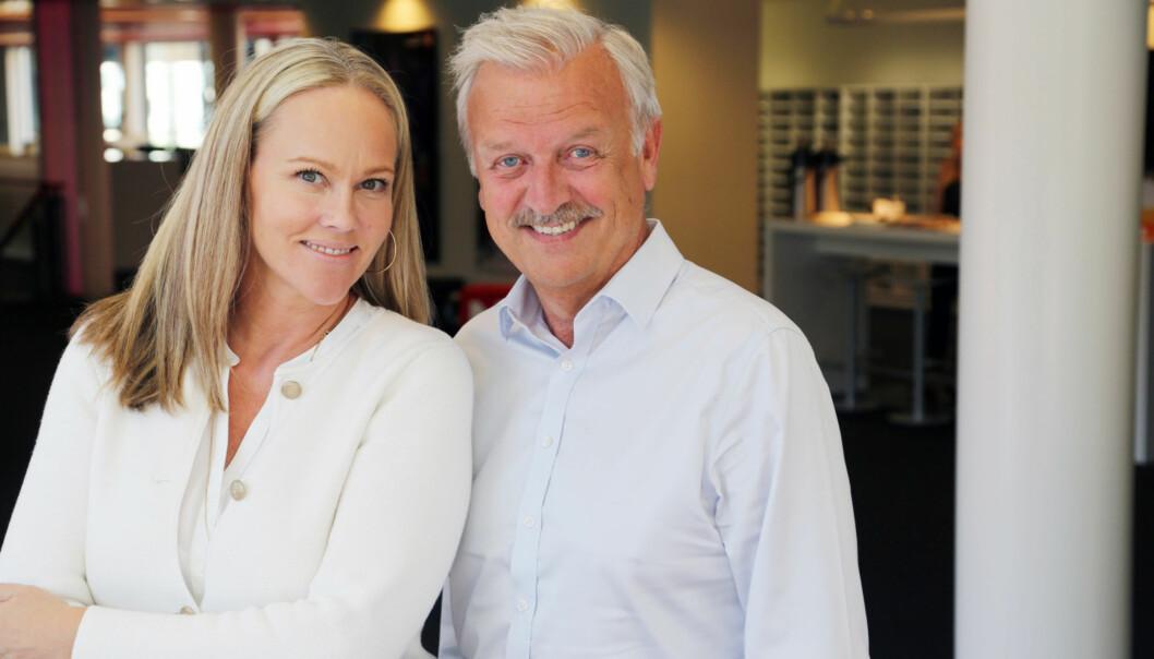 <strong>SAMMEN PÅ SKJERMEN IGJEN:</strong> Hallvard Flatland og Birgitte Seyffarth gleder seg til jubileumsepisodene av Casino. FOTO: TVNorge
