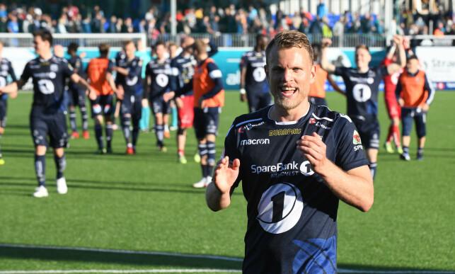 MATCHVINNER: Stian Aasmundsen sikret Kristiansunds tredje strake seier i Eliteserien. Foto: Anders Tøsse / NTB scanpix