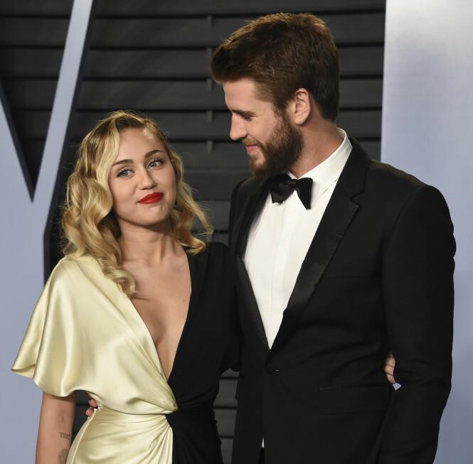 THE LAST SONG: Det gleder oss å se Miley Cyrus og Liam Hemsworh ved hverandres side, på tross av at forholdet deres ikke alltid har vært like enkelt. FOTO: NTB Scanpix
