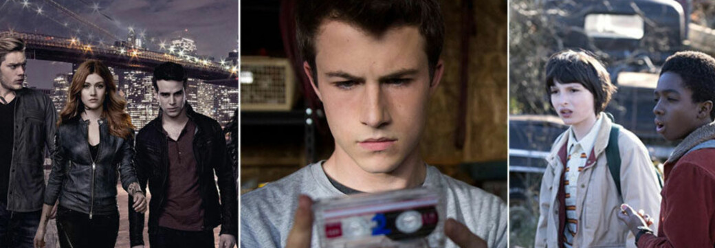 TV-SERIER: «Shadowhunters», «13 Reasons Why» og «Stranger Things» kommer tilbake i 2019. FOTO: frida.se