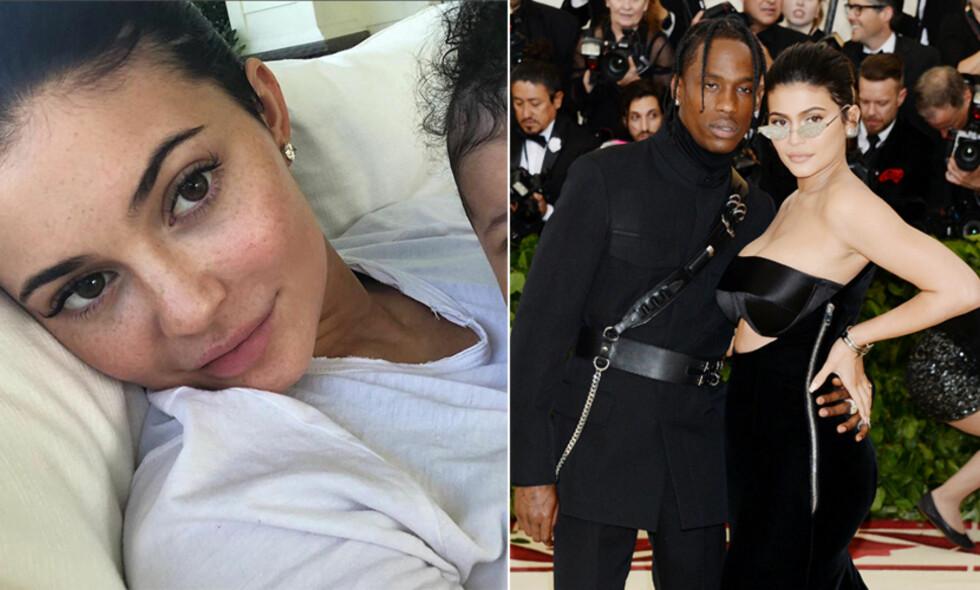 SLETTET BILDER: Kylie Jenner har slettet alle bildene av datteren Stormi Webster, og skriver at hun ikke vil dele bilder av datteren akkurat nå. Foto: Instagram, NTB scanpix