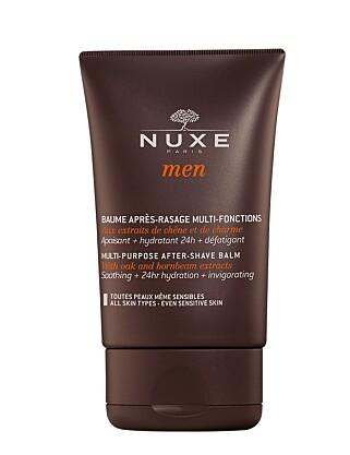 AFTER-SHAVE BALM: NUXE-serien for menn består av alle de hudpleieproduktene du trenger. Hver dag.