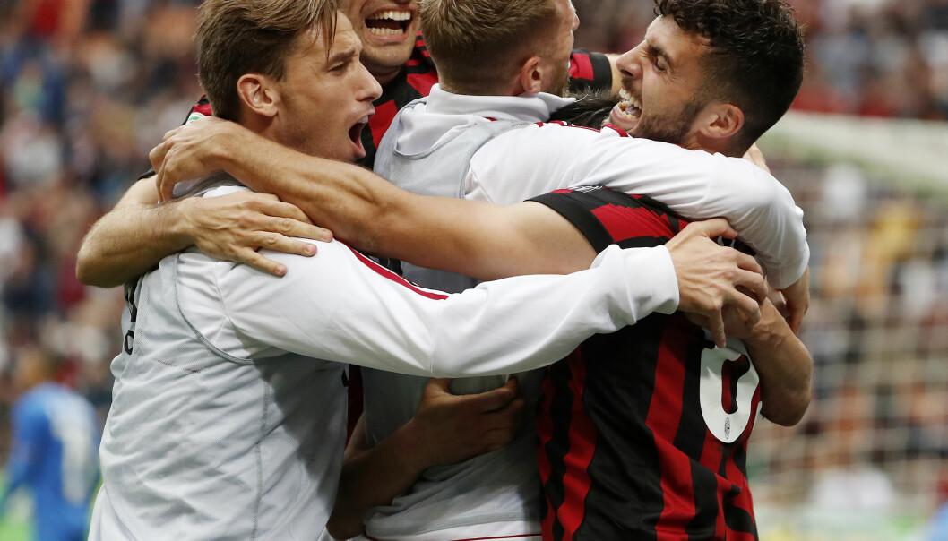 <strong>KVINNELAG:</strong> AC Milan starter opp kvinnelag før 2018-2019-sesongen. Foto: AP Photo/Antonio Calanni