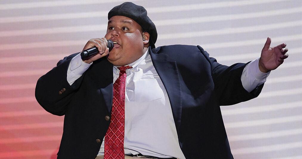 GIKK BORT: Tidligere «America's Got Talent»-vinner Neal Boyd er død, 42 år gammel. Her er han avbildet under en opptreden for republikanerne i Tampa, Florida i 2012. Foto:AP/ NTB scanpix