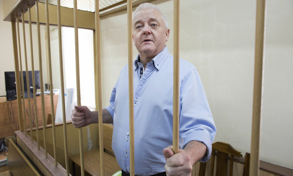 I RETTEN: Spionsiktede Frode Berg i retten i Moskva. Foto: Henning Lillegård / Dagbladet .