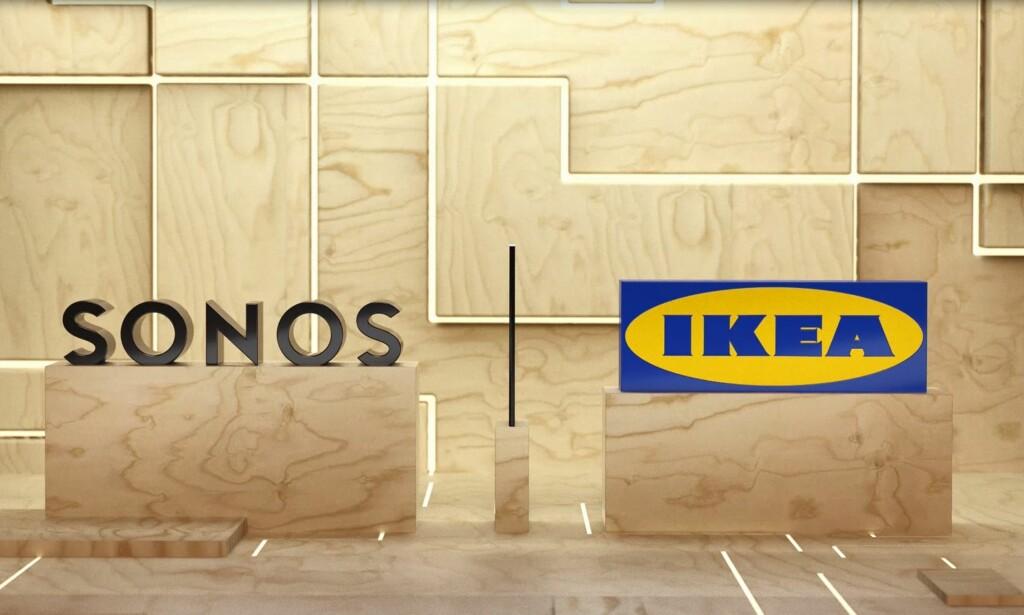 SAMARBEID OM MUSIKK: Ikea har alliert seg med smarthøyttaler-spesialisten Sonos for å gi deg musikk i alle rom i huset. Foto: Ikea
