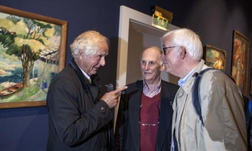 ENGASJERT: William Nygaard (t.v) og Georg Fredrik Rieber-Mohn har engasjert seg i forhandlingene med Oslo kommune. Haakon Mehren i midten. Foto: Anders Grønneberg