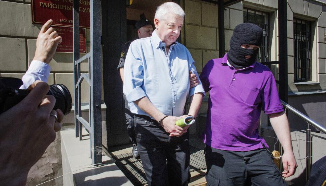 FENGSLET: Frode Berg er dømt til 14 års fengsel i byretten i Moskva. Mandag blir dommen rettskraftig. Foto: Henning Lillegård / Dagbladet .