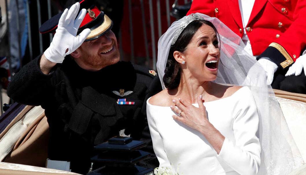<strong>PLEIET KJÆRLIGHETEN:</strong> Prins Harry og hertuginne Meghan skal ha prioritert en privat reise etter det svært offentlige bryllupet 19. mai. Foto: NTB scanpix