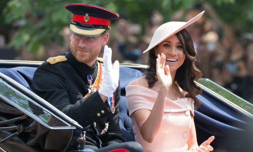 <strong>AVSLAPPING I SOLA:</strong> Hertugen og hertuginnen av Sussex skal ha lagt bryllupsreisen til Øst-Afrika. Foto: NTB scanpix