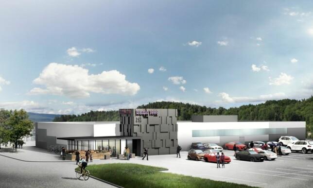 NY STANDARD: Slik ser Rema 1000s nye standardbutikker ut. Illustrasjon: Snøhetta / Rema 1000