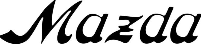 <strong>MAZDAS FØRSTE LOGO:</strong> I starten (1934) bestod den bare av bokstaver, med et asiatisk preg.