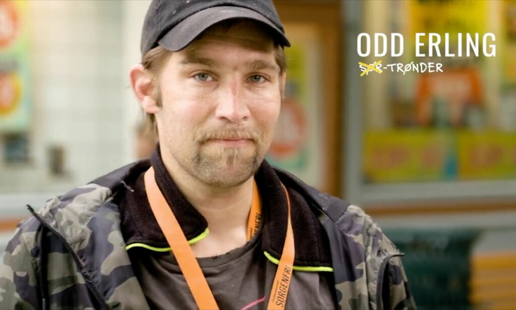 BIDRAR: Odd Erling Romsdal bidrar med vokal på «Trønder». Foto: Skjermpdump fra «Trønder»