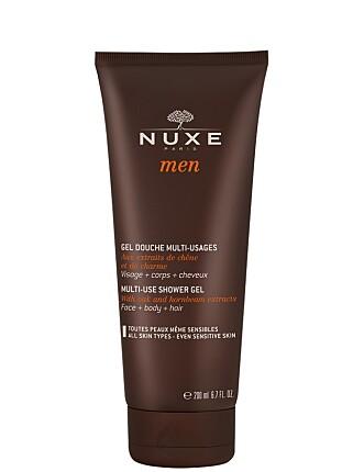 SHOWER GEL: NUXE-serien for menn består av alle de hudpleieproduktene du trenger. Hver dag.