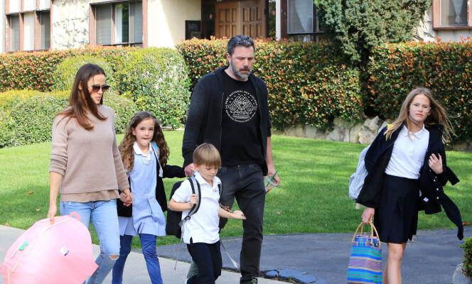 ALLE SAMLET: Her er hele familien samlet i mars 2018. Foto: NTB Scanpix