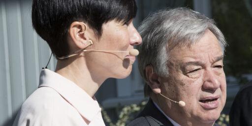 image: FNs generalsekretær hyller Norge