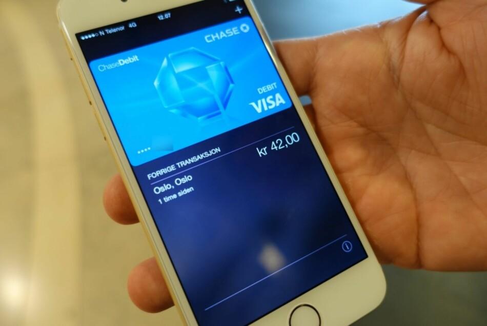 I NORGE: Det har tatt lang tid, men nå er Apple Pay klart for flere norske kunder. Foto: Trond Bie