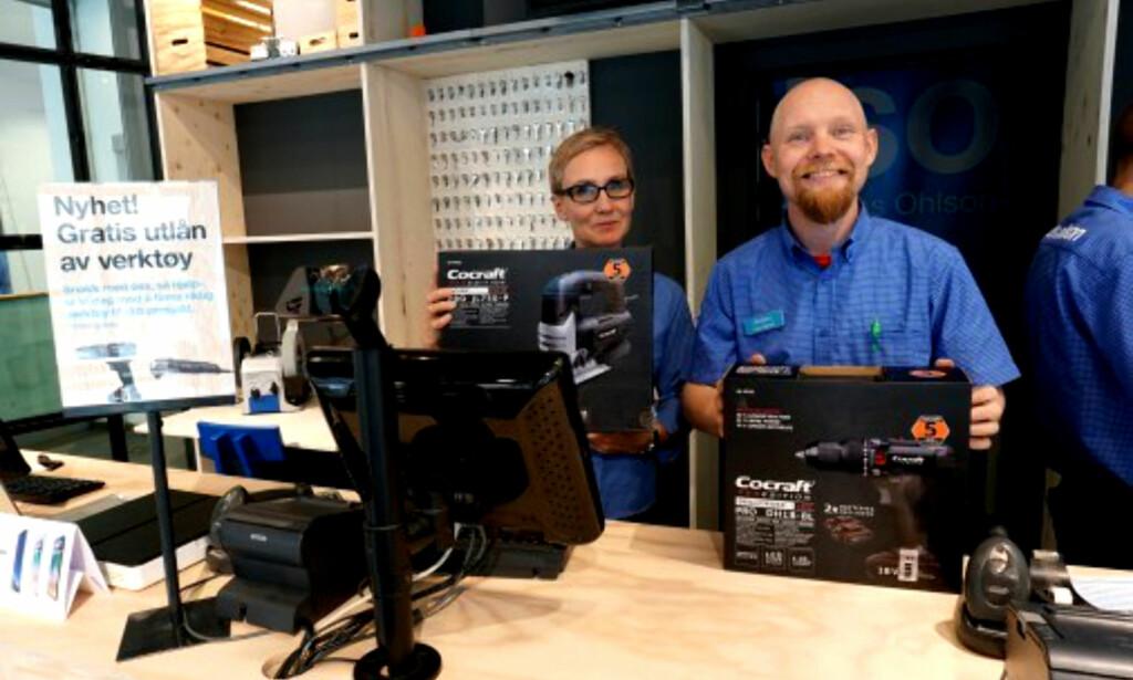 LÅNEVERKTØY: Clas Ohlson lanserer gratis utlån av verktøy etter den svenske ToolPool-modellen. Foto: Clas Ohlson