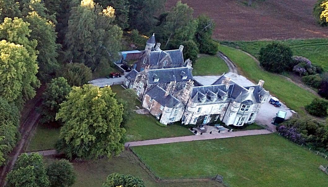 LUKSUS: Det er på eksklusive Wardhill Castle bryllupsfesten vil foregå senere lørdag. Foto: NTB scanpix