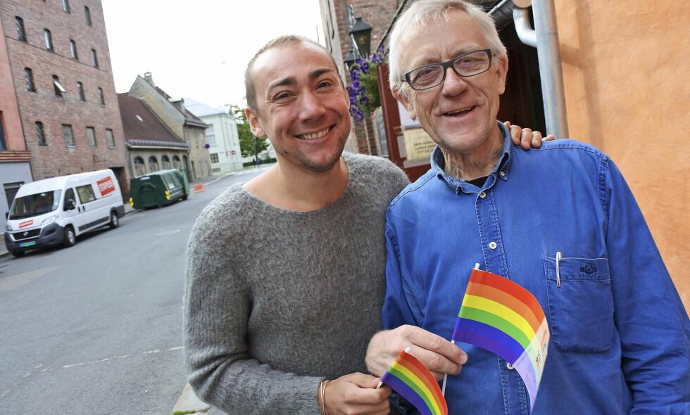 SKEIV GLEDE. Aasmund Robert Vik sammen med Hans Heen Sikkeland i FRI OA. Foto: Petter Ruud-Johansen / FRI OA