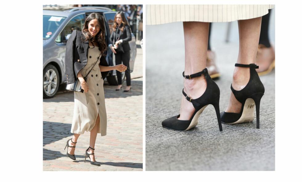 20a2d152 MEGHAN MARKLE: Hertuginne Meghan har lagt seg til den vanen å bruke sko som  er