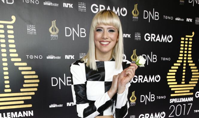 <strong>STOR SUKSESS:</strong> Dagny Norvill Sandvik har blitt nominert til Spellemannprisen hele tre ganger. Her er hun under prisutdelingen på Oslo konserthus tidligere i år. Foto: NTB Scanpix
