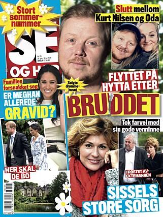 PÅ FORSIDEN: Se og Hør kan avsløre at Kurt Nilsen er singel igjen, etter å ha vært kjæreste med Oda Rivrud i rundt fem år. Foto: Faksimile
