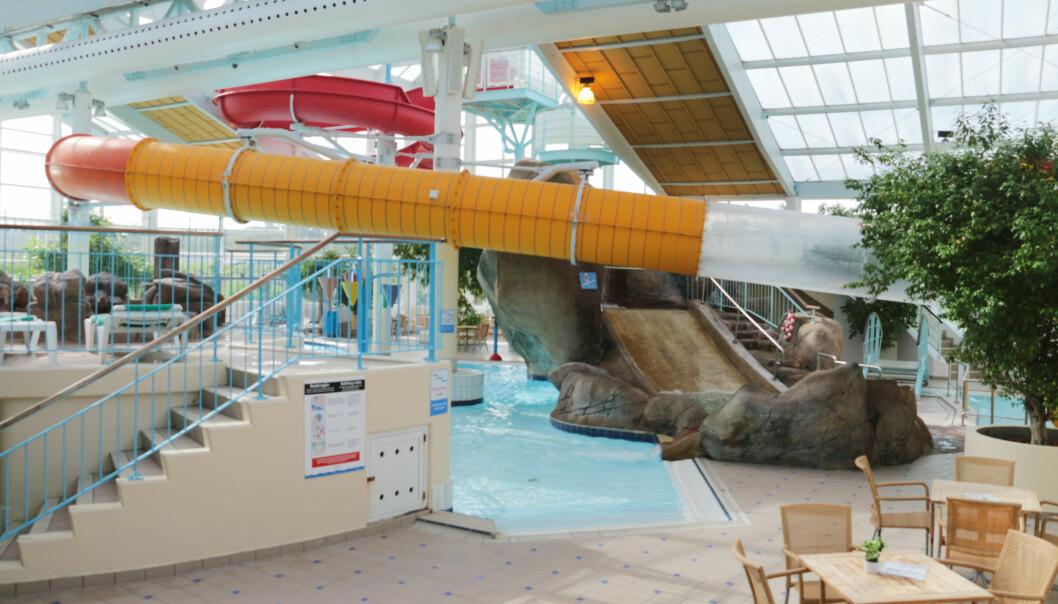<strong>RESORT MED BADELAND:</strong> Sklie, motstrøms-svømming og barnebasseng er noe av utvalget på Skallerup, i tillegg til et tradisjonelt svømmebasseng. Foto: Kristin Sørdal
