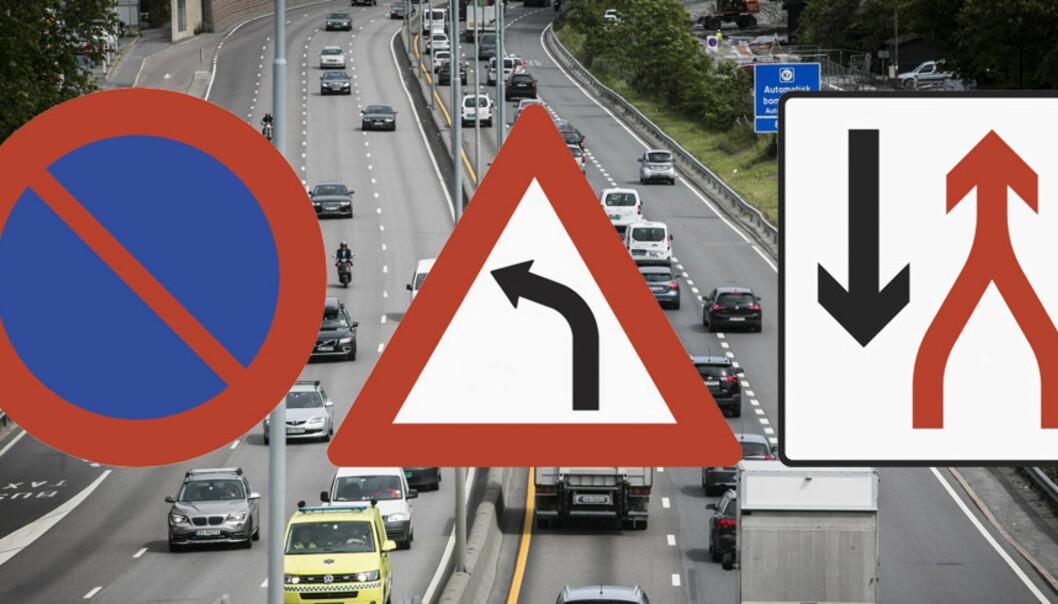 Quiz: Vet du egentlig hva disse trafikkskiltene betyr?