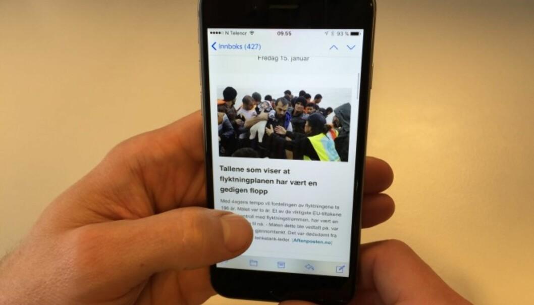 SOL nyhetsbrev: Få et sammendrag av dagens viktigste nyheter på e-post