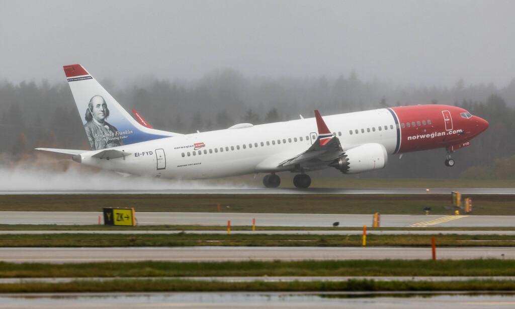 NYE FLY: Norwegian bruker sine nye Boeing 737 MAX-fly når de i høst gjenåpner ruta til Dubai. Foto: Norwegian